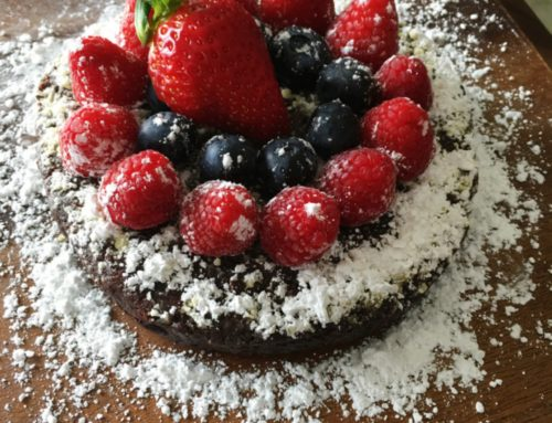 restaurant style chocolate cake
