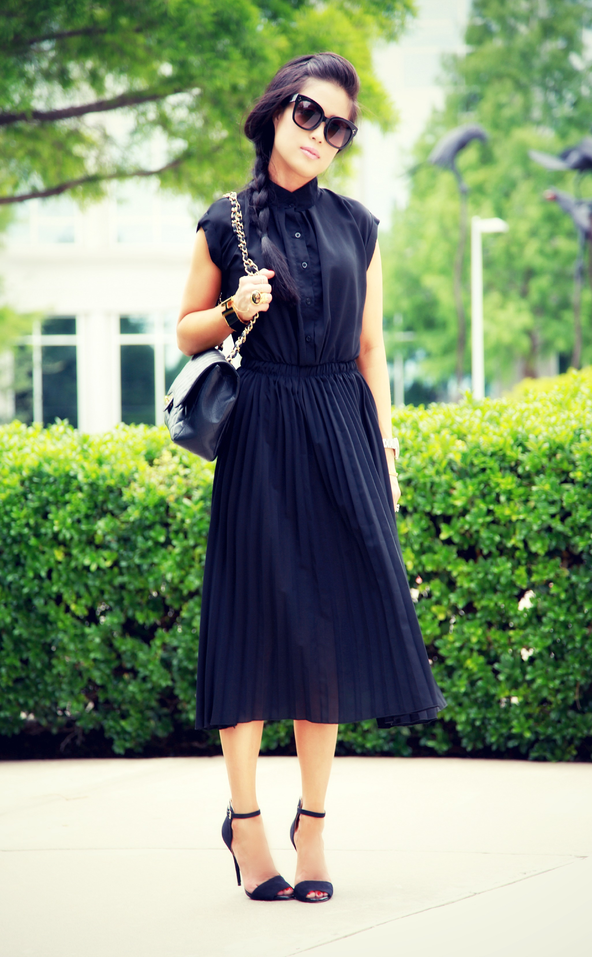 sleek pleats